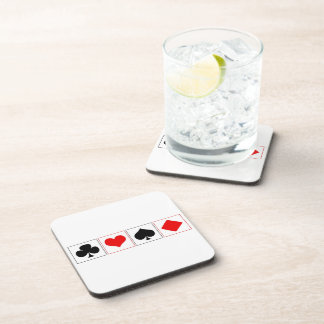 Playing card suits drink coaster