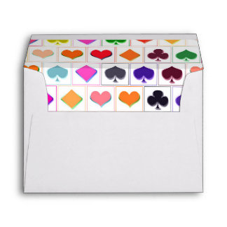 Playing card suits envelope