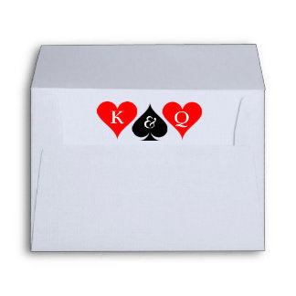 Playing card suits envelopes for Las vegas wedding