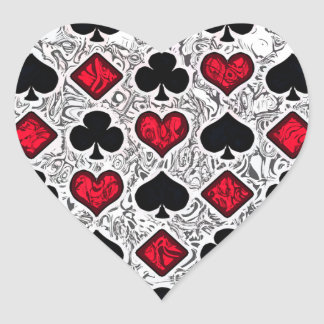PLAYING CARD SUITS HEART STICKER