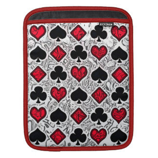 PLAYING CARD SUITS iPad Sleeve