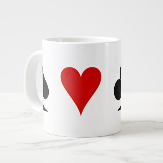 Playing Card Suits Large Coffee Mug