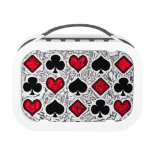 PLAYING CARD SUITS LUNCH BOX