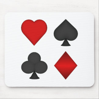 Playing Card Suits: Mouse Pad