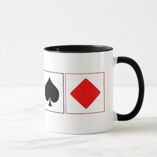Playing card suits mug