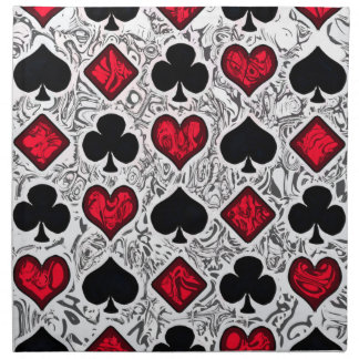 PLAYING CARD SUITS Napkins