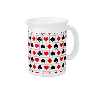Playing card suits pattern beverage pitcher