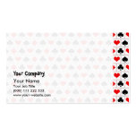 Playing card suits pattern Double-Sided standard business cards (Pack of 100)