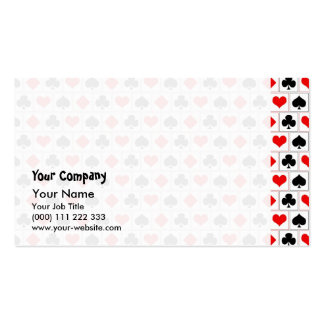 Playing card suits pattern business cards
