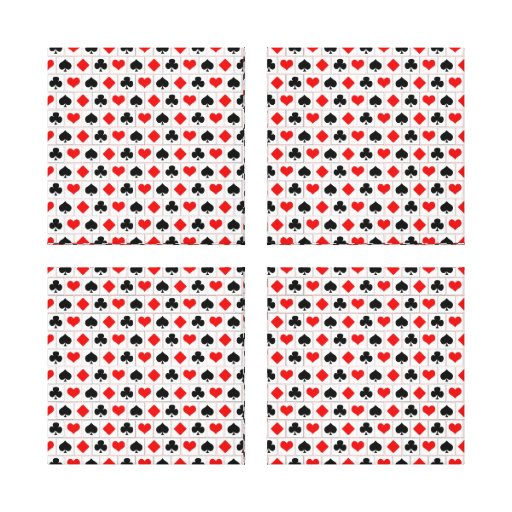 Playing card suits pattern canvas prints