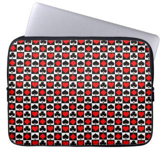 Playing Card Suits Pattern Laptop Sleeve