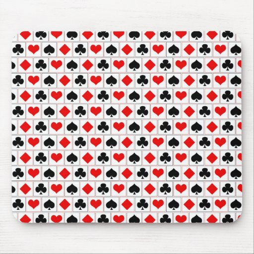 Playing card suits pattern mouse pad