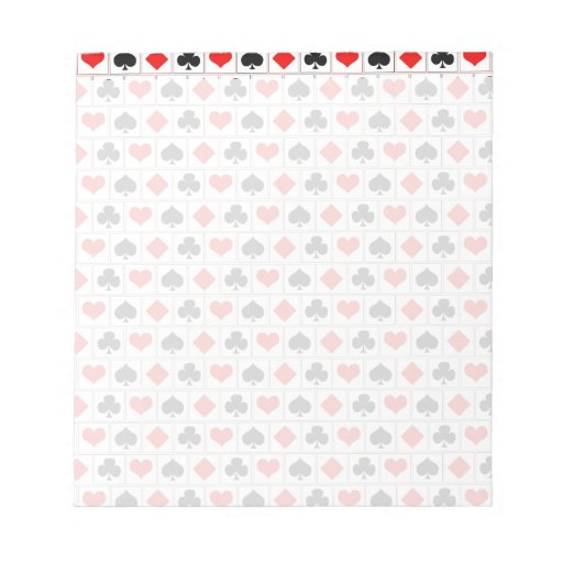 Playing card suits pattern memo pad