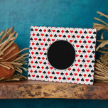 Playing card suits pattern plaques