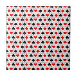 Playing card suits pattern tiles