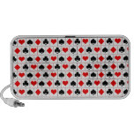 Playing card suits pattern travel speakers