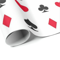 Playing Card Suits Pattern Wrapping Paper