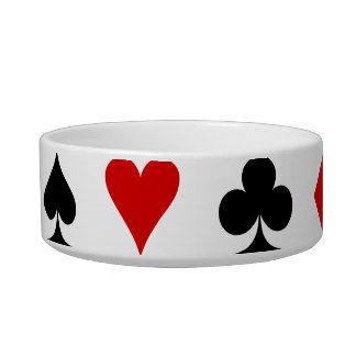 Playing Card Suits Cat Bowls