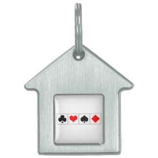 Playing card suits pet ID tag
