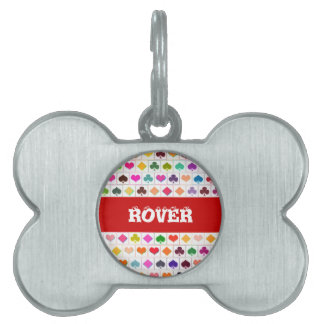 Playing card suits pet name tag