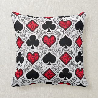 PLAYING CARD SUITS Pillow