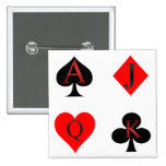 Playing Card Suits Pinback Buttons