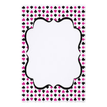Playing Card Suits Pink and Black