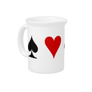 Playing Card Suits Pitchers