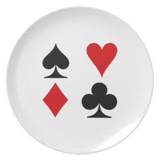 Playing Card Suits Party Plates
