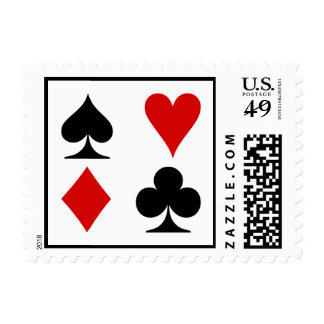 Playing Card Suits Postage