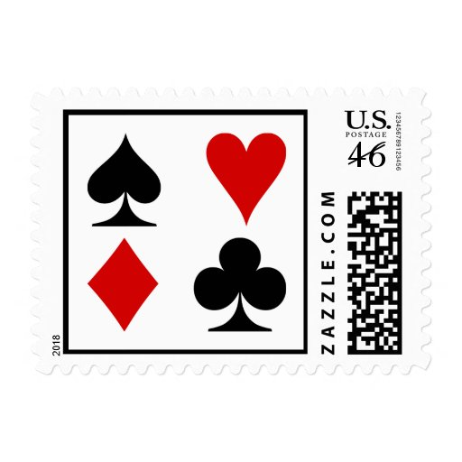 Playing Card Suits Postage Stamp