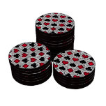 PLAYING CARD SUITS SET OF POKER CHIPS