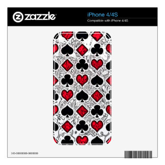 PLAYING CARD SUITS iPhone 4S DECALS