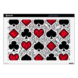 "PLAYING CARD SUITS SKINS FOR 17"" LAPTOPS"
