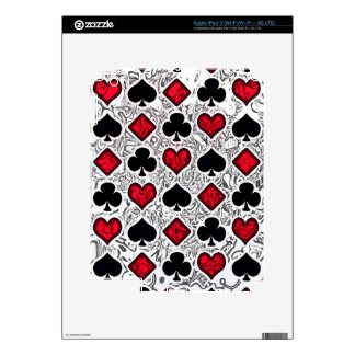 PLAYING CARD SUITS iPad 3 SKINS