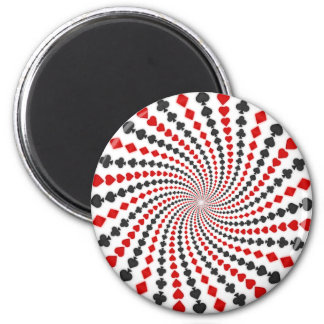 Playing Card Suits Spiral: Magnet