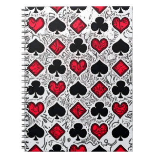 PLAYING CARD SUITS Spiral Notebook