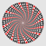Playing Card Suits Spiral: Sticker