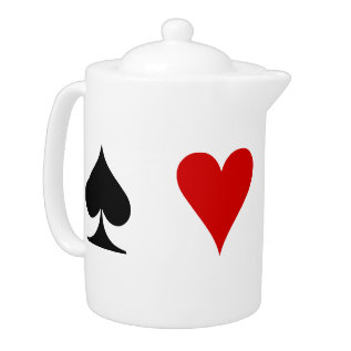 Playing Card Suits Teapot at Zazzle