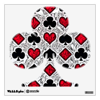 PLAYING CARD SUITS Wall Decal