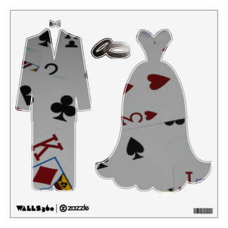Playing Card Wedding Wall Decals