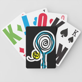 Playing card with tennis theme bicycle playing cards