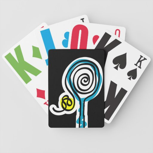 Playing card with tennis theme poker deck