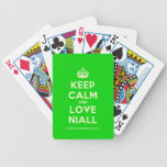 [Crown] keep calm and love niall  Playing Cards