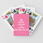 [Crown] keep calm and love hunter hayes  Playing Cards