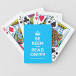 [Crown] be reem and read on!!!!!!  Playing Cards