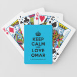 [Crown] keep calm and love omar  Playing Cards