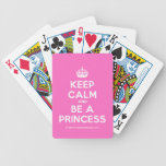[Crown] keep calm and be a princess  Playing Cards