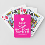 [Love heart] keep calm and eat some skittles!  Playing Cards