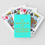 [Cupcake] keepcalm and eat little baby's ice cream  Playing Cards